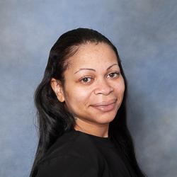 Portrait of woman in black sweater